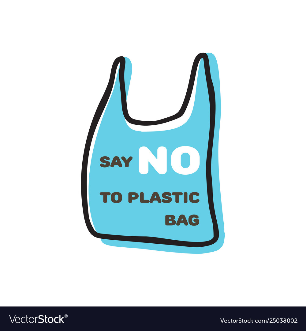 Say no to plastic sign doodle design