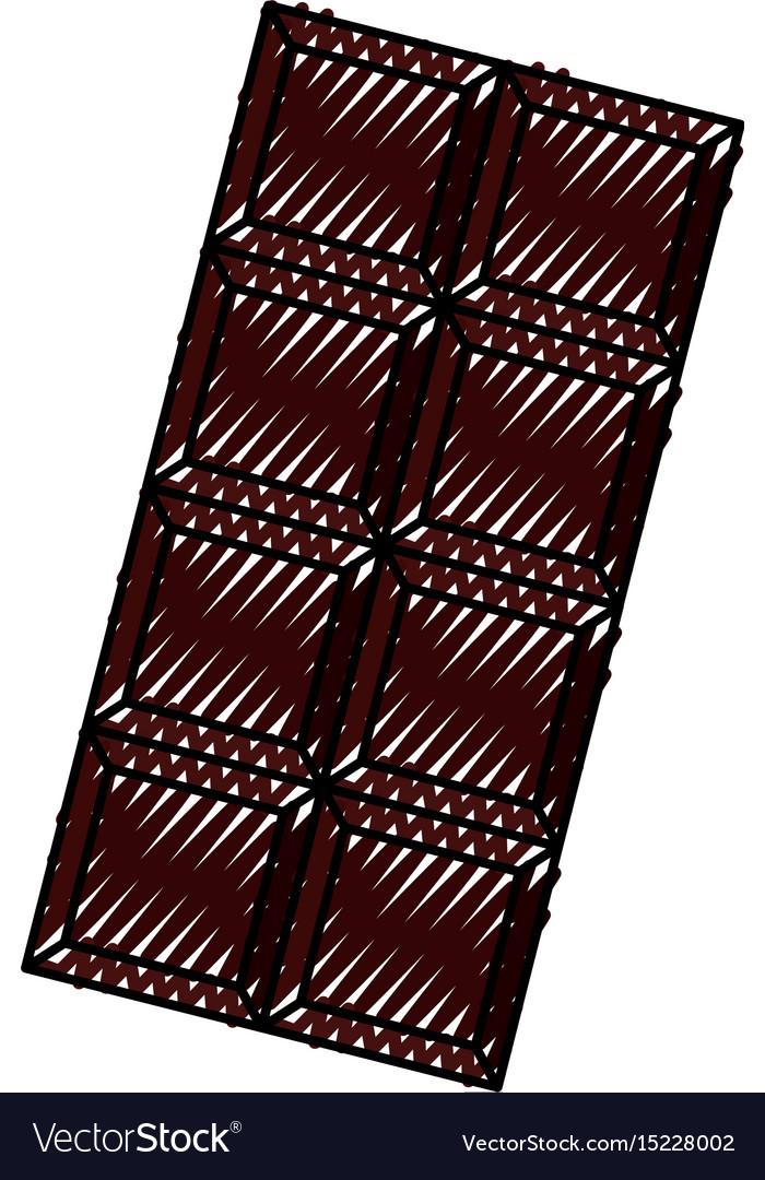 Scribble chocolate bar cartoon