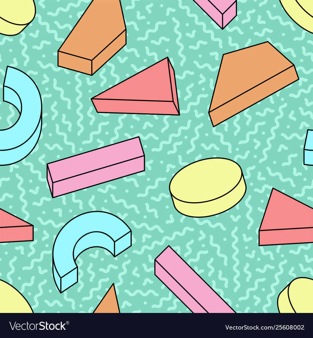 Seamless trendy pattern with colorful