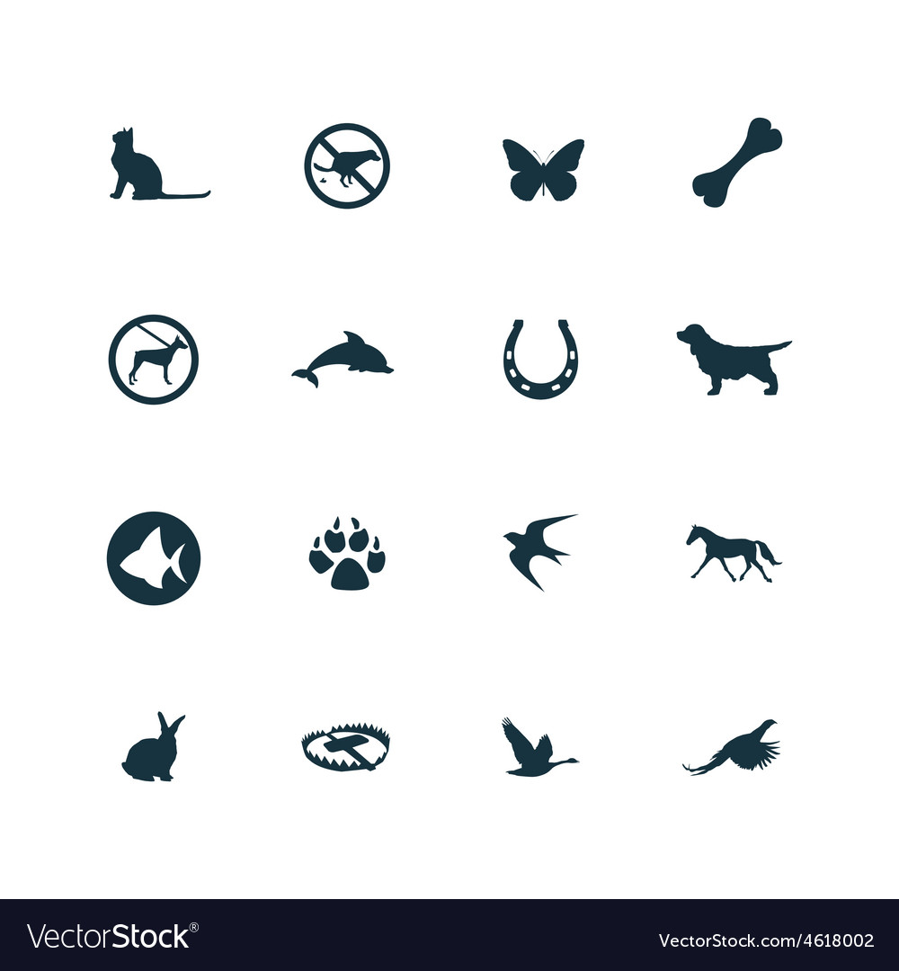 Set of animals pets icons