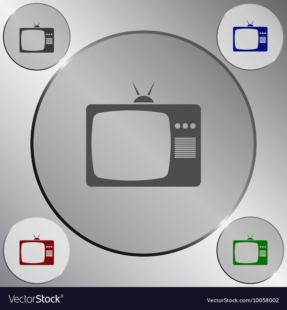 TV icon Flat design style