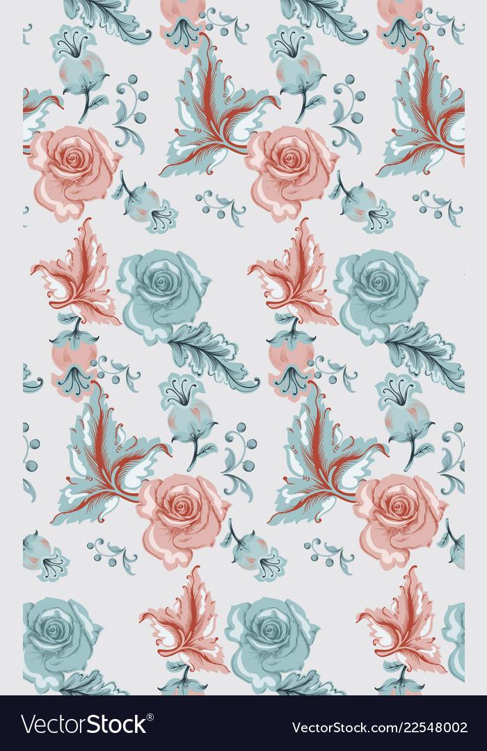 Vintage damask pattern old 30s style
