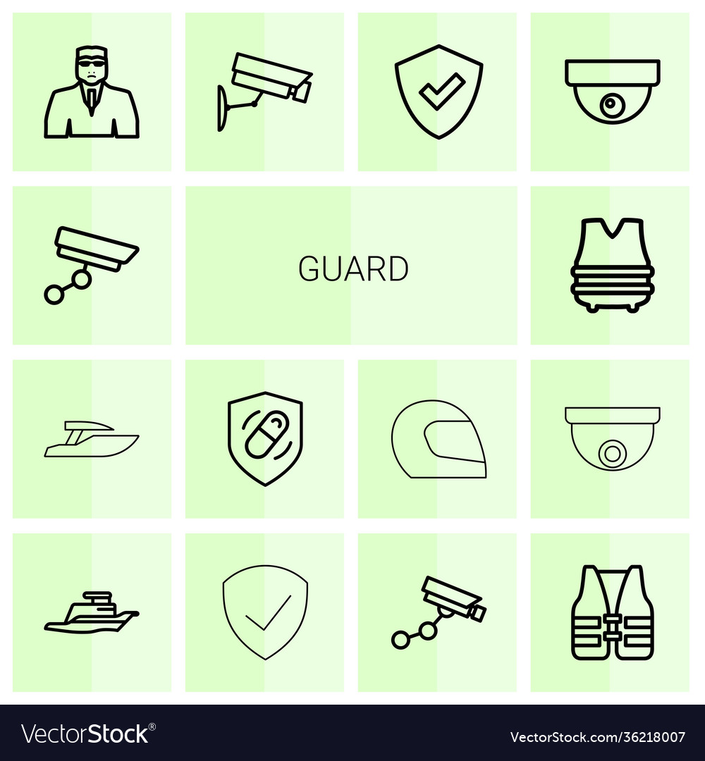 14 guard icons