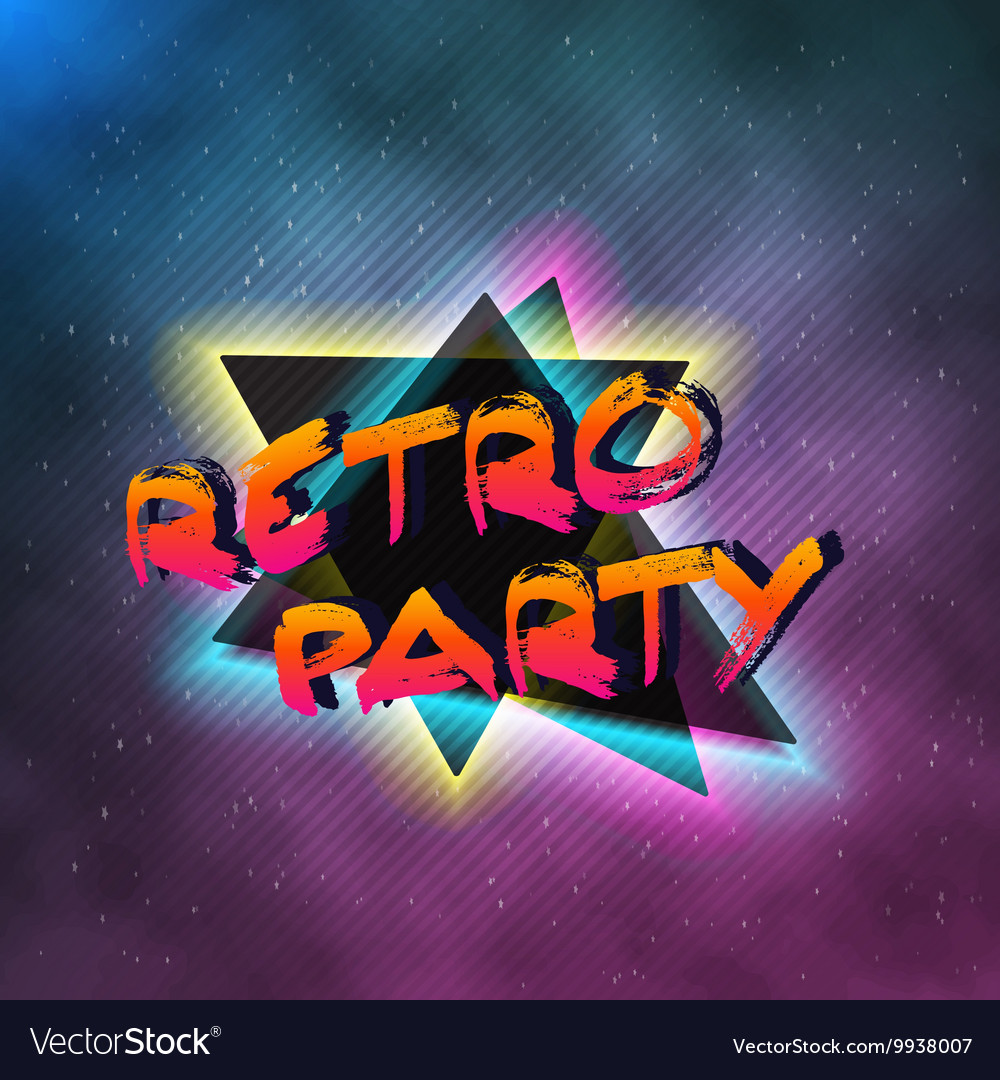 1980 Neon Poster Retro Disco 80s Background made