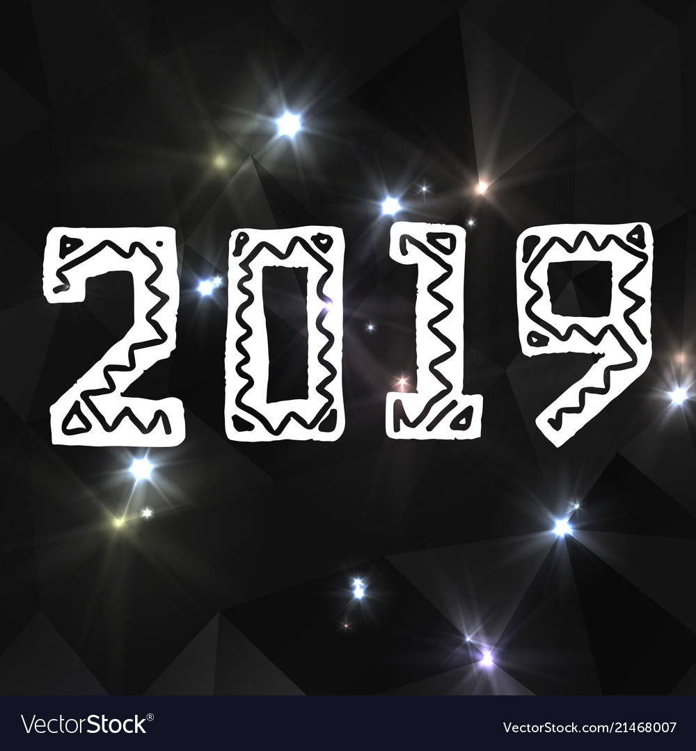 2019 grunge stamp new year sign
