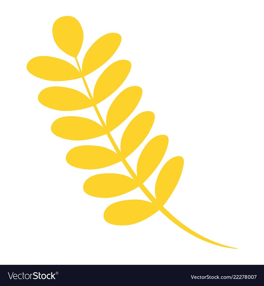 Autumn leaf icon flat style
