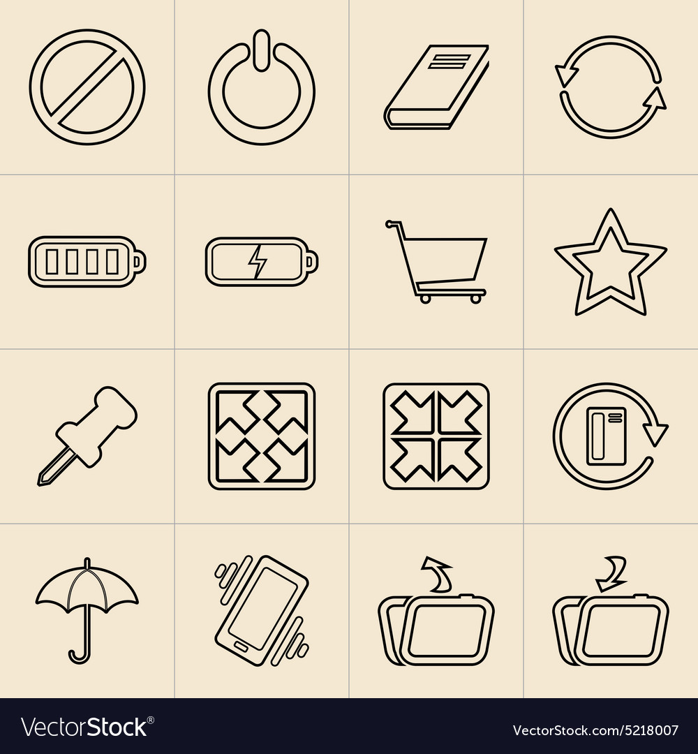 Digital Marketing Line Icons