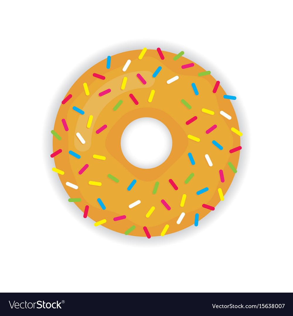 Donut icon modern flat
