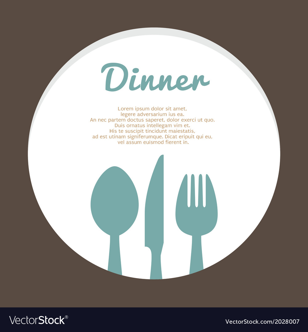 Food Concept Template vector image