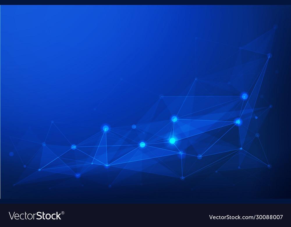 Internet connection blue polygonal background