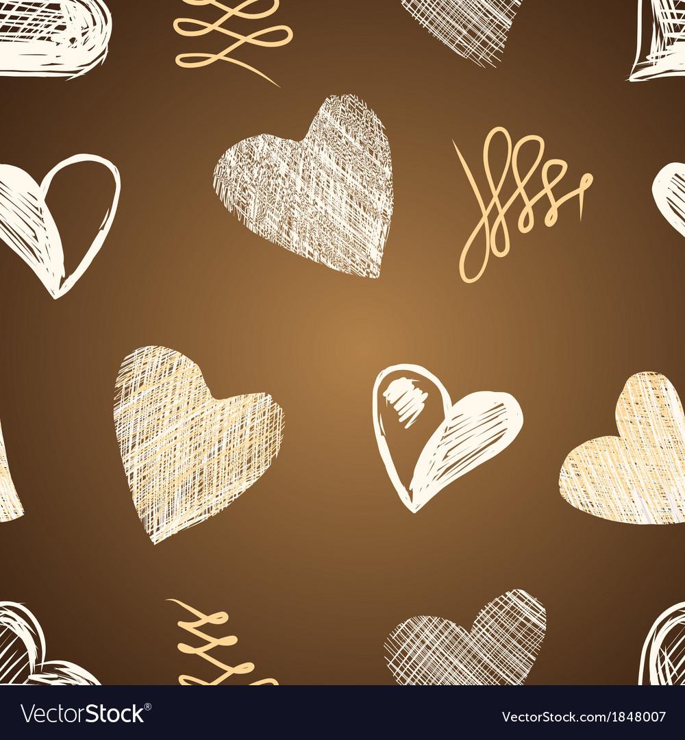 Love hearts sketch hand drawn