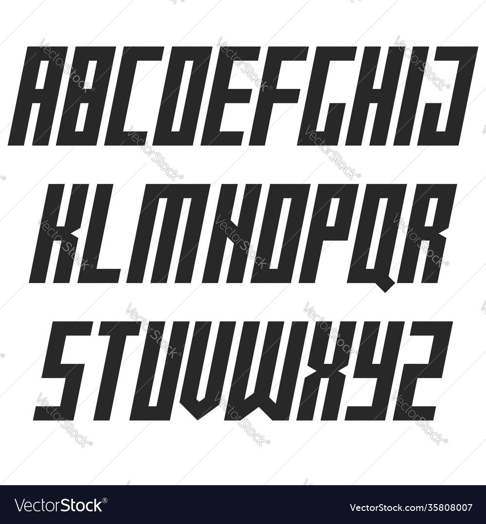 Modern bold italic font sans serif typography