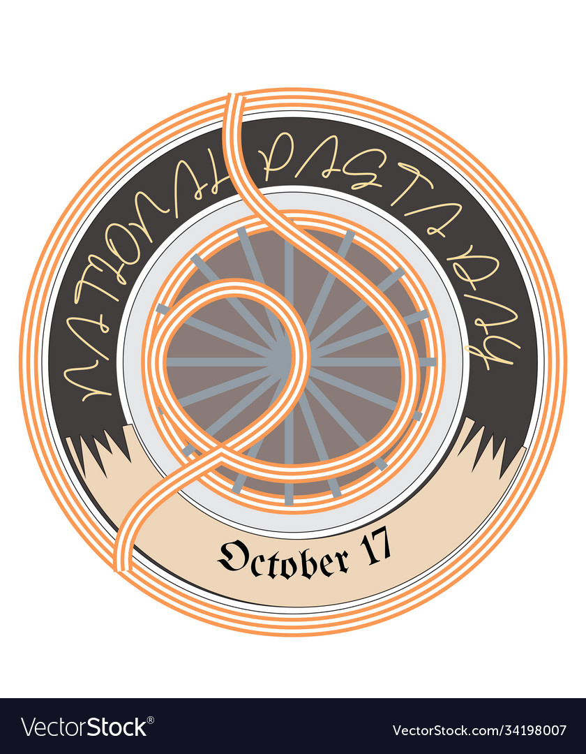 National pasta day sign and badge