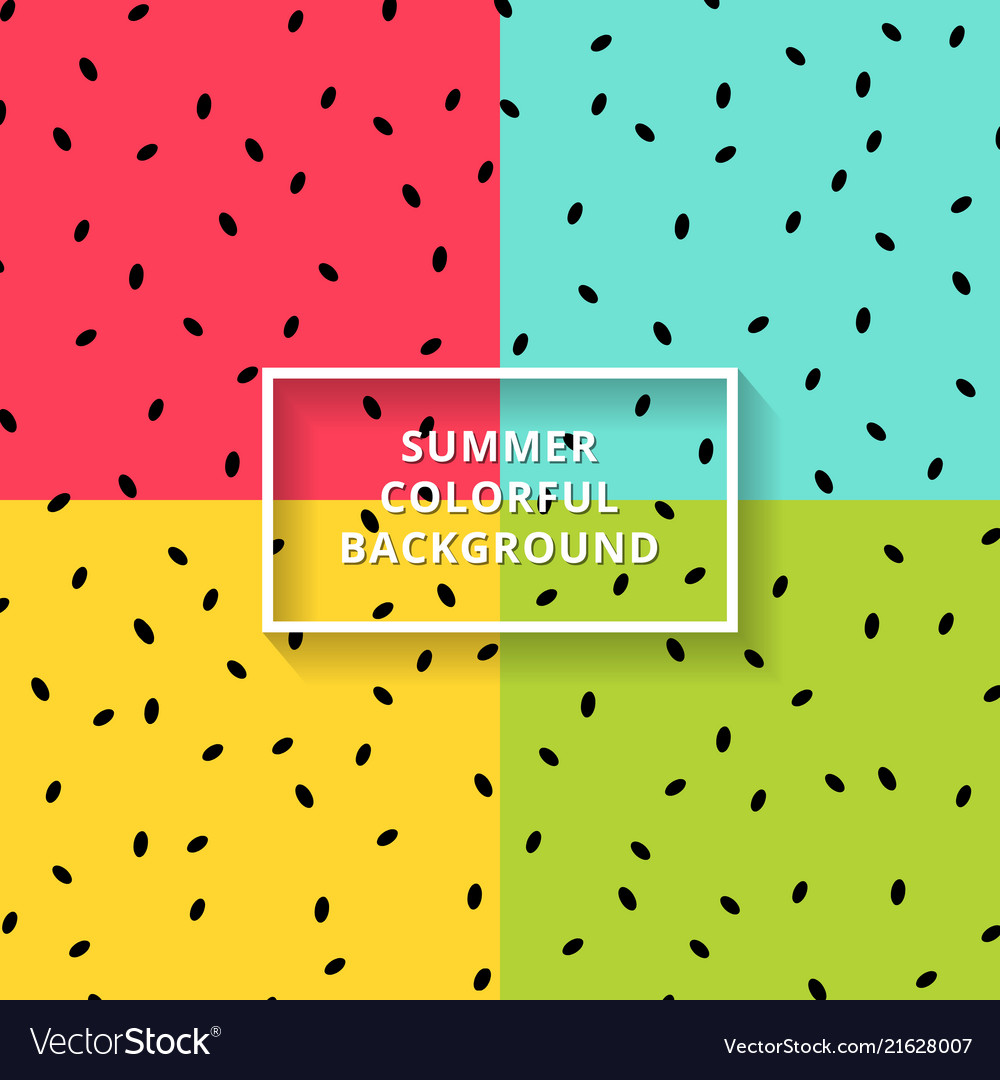 Watermelon on colorful background with black seeds