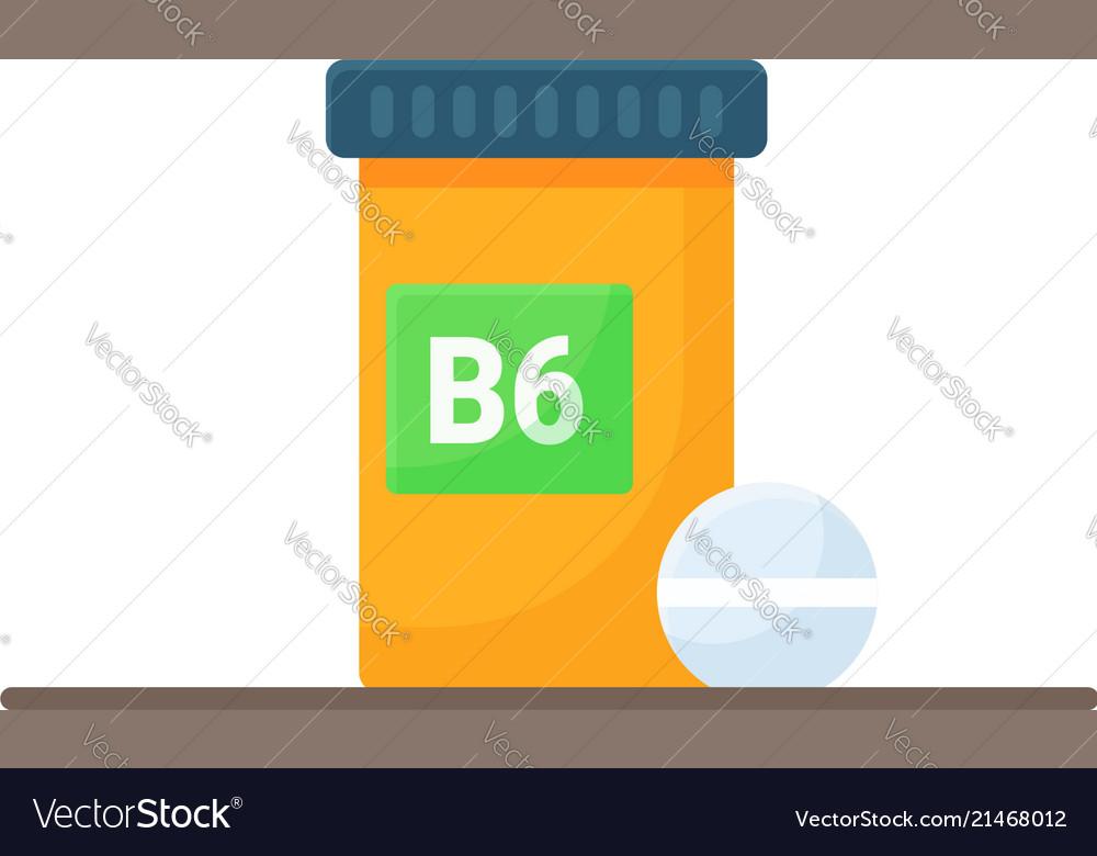 Box with vitamins b6
