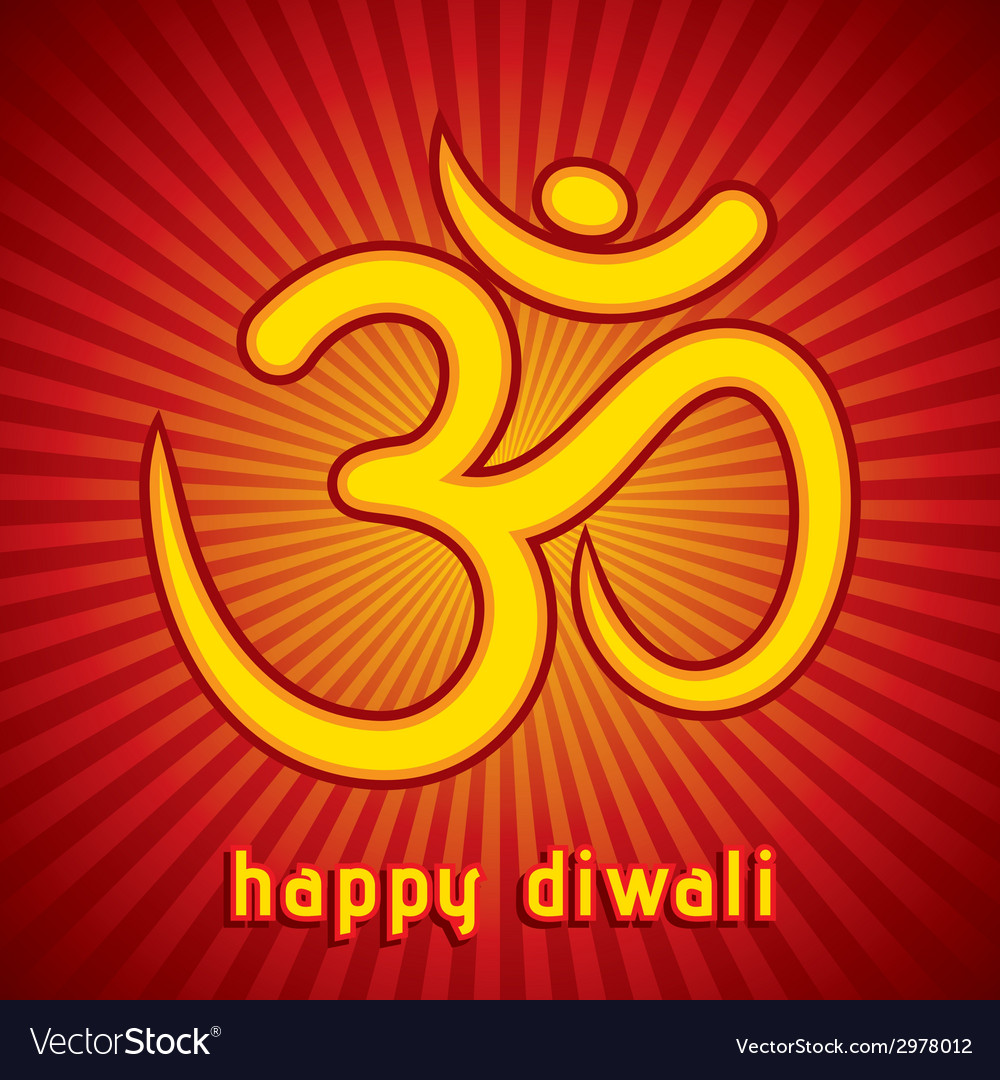 Creative Happy Diwali Greeting Card Background Vector Image