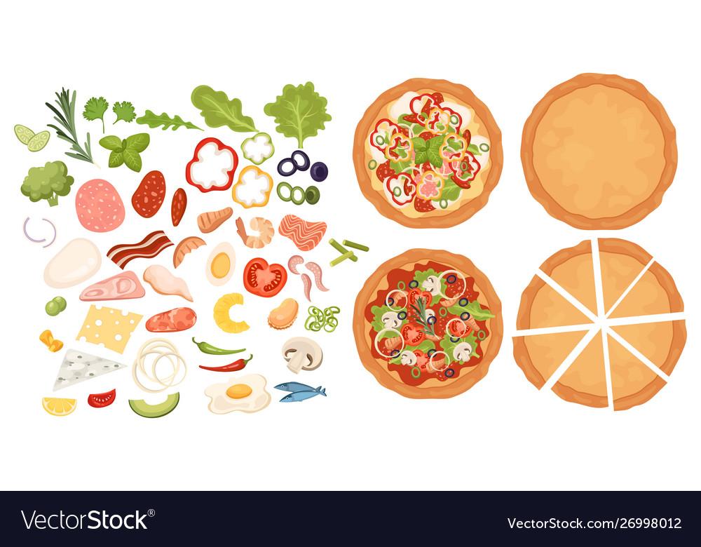 Designer for pizza design pizza set making pizza