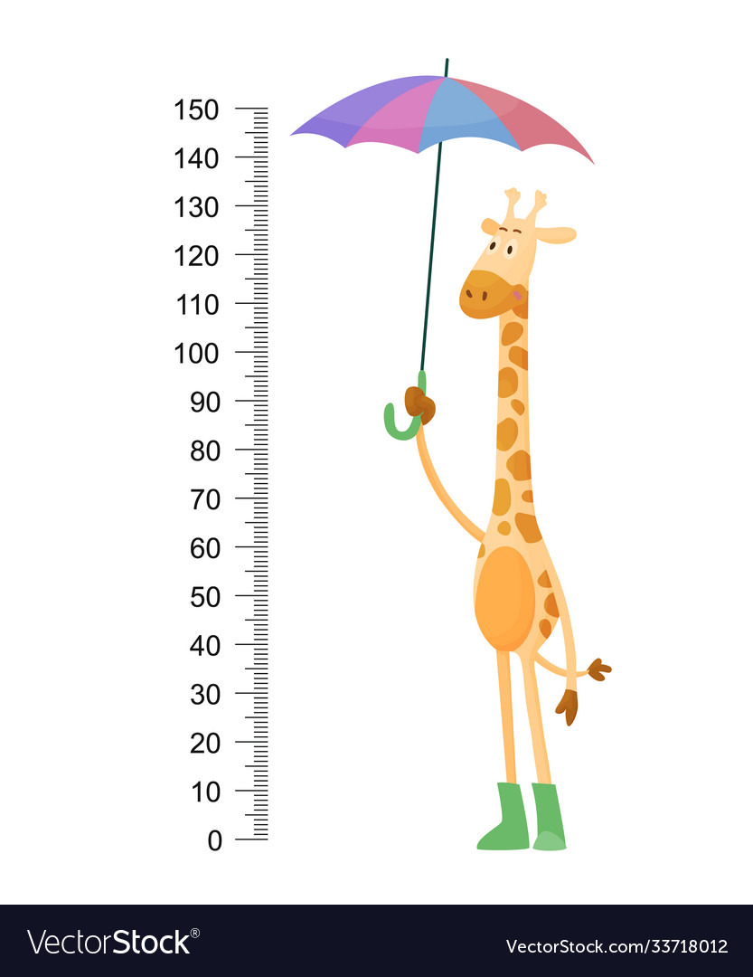 Funny giraffe cheerful giraffe with long
