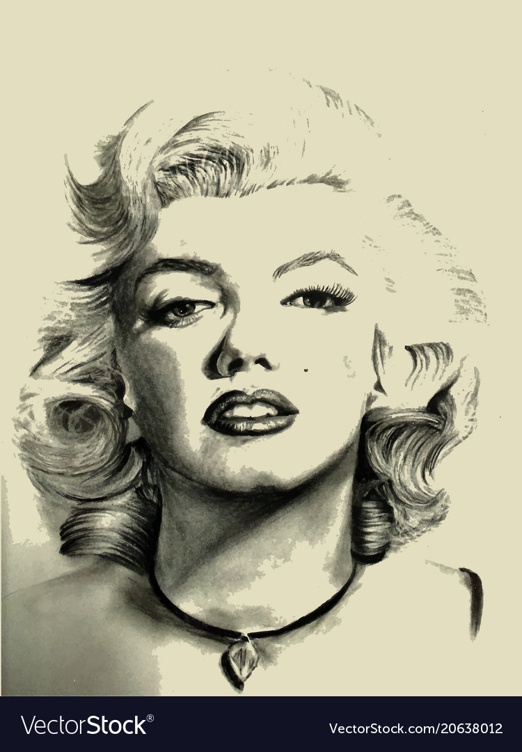 marilyn monroe vector images 49 vectorstock