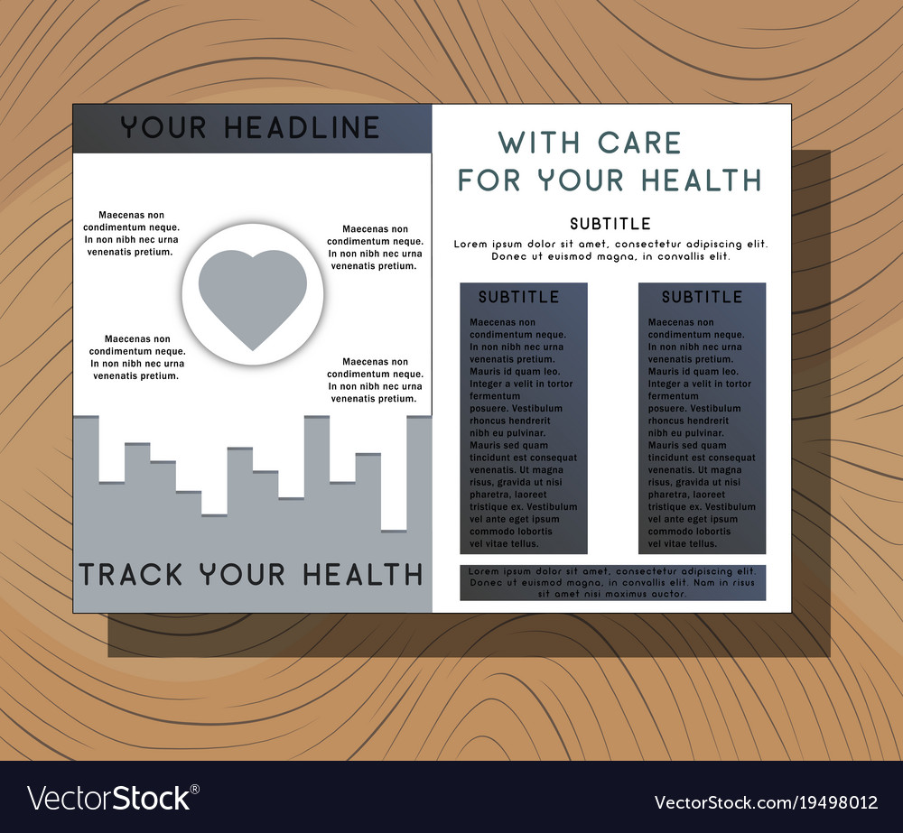medical brochure cover template flyer design vector image