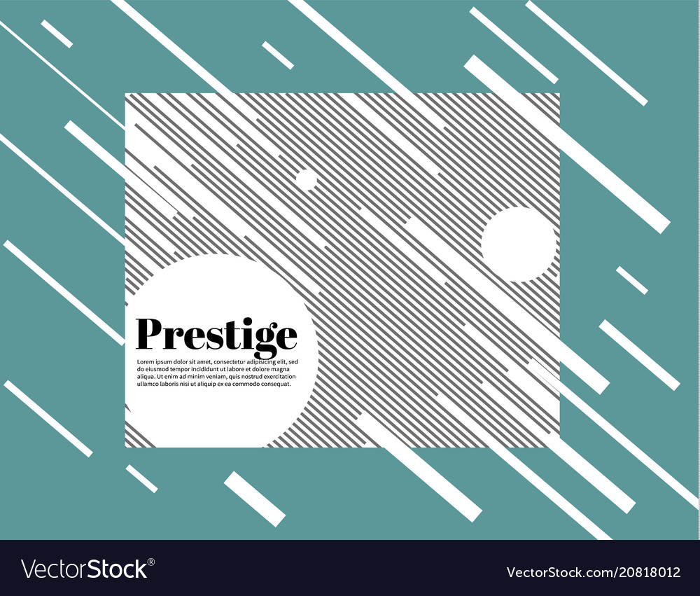Prestige white modern business brochure leaflet