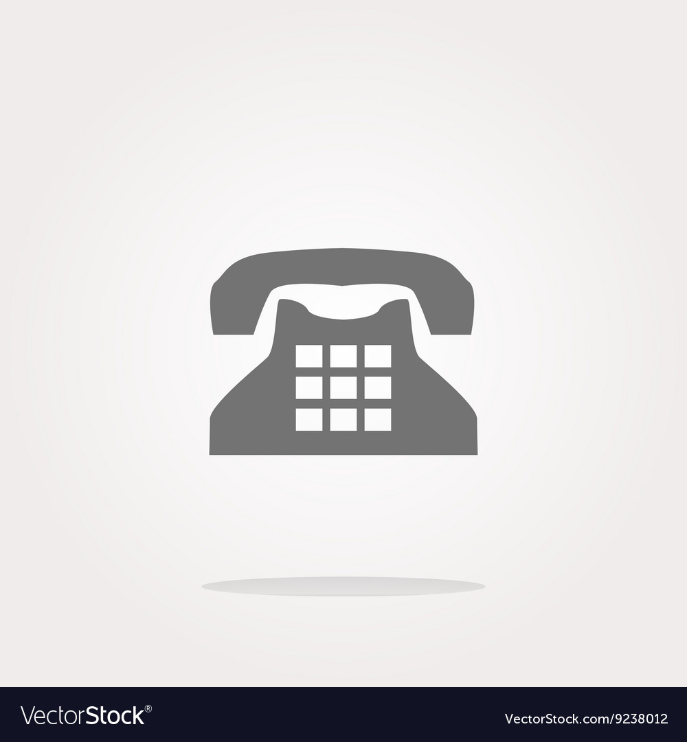 Rotary phone web button icon icon