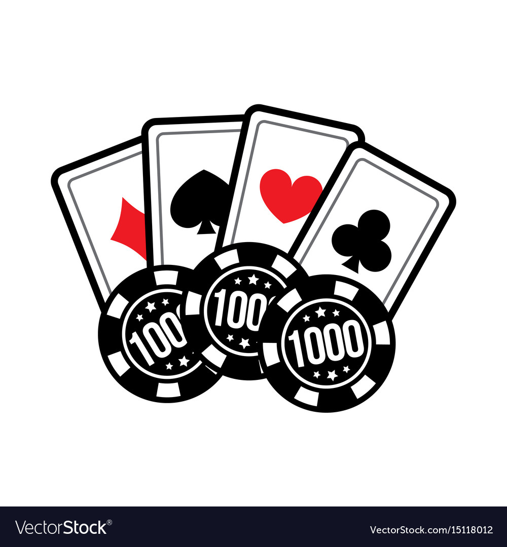 Set Casino Card And Poker Chips For Casino Games Vector Image