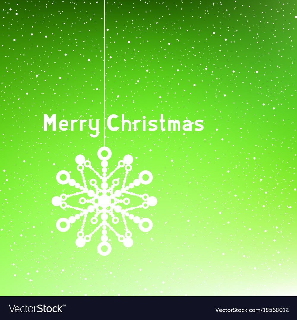 Text merry christmas green