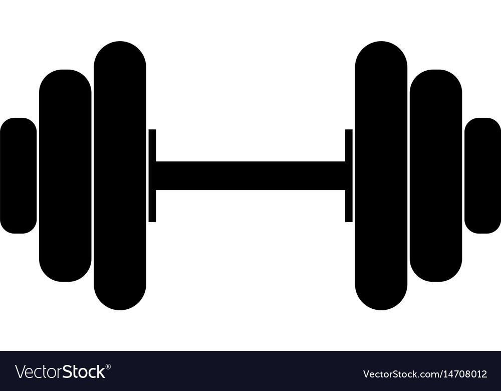 The dumbell black color icon vector image