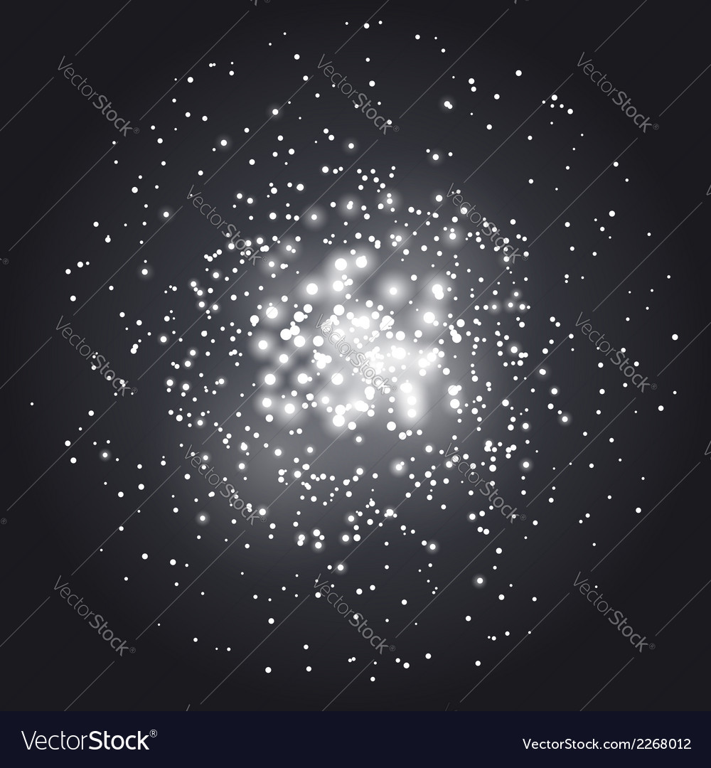 Transparent abstract constellation background vector image