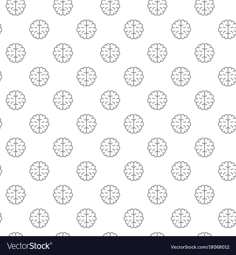 Unique brain seamless pattern with various icons