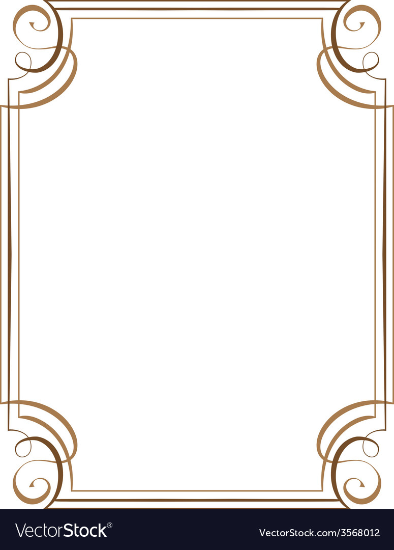 Vertical frame Royalty Free Vector Image - VectorStock