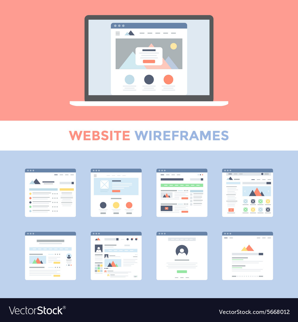 Website Wireframes vector image