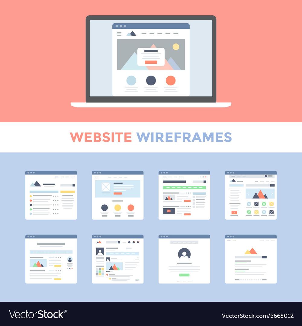 Website Wireframes Royalty Free Vector Image - VectorStock