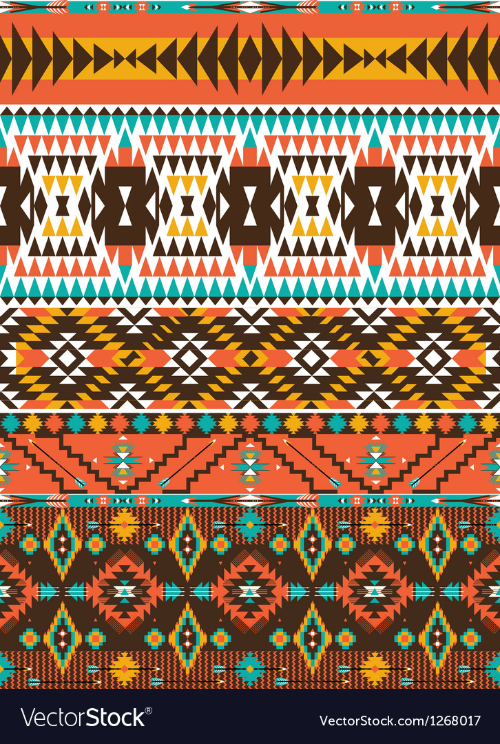 Aztec colorful geometric seamless pattern Vector Image Enchanting Aztec Pattern