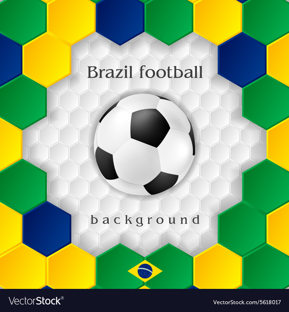 Bright soccer background with ball Brazilian