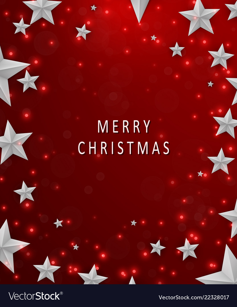 Christmas and new years red background with frame