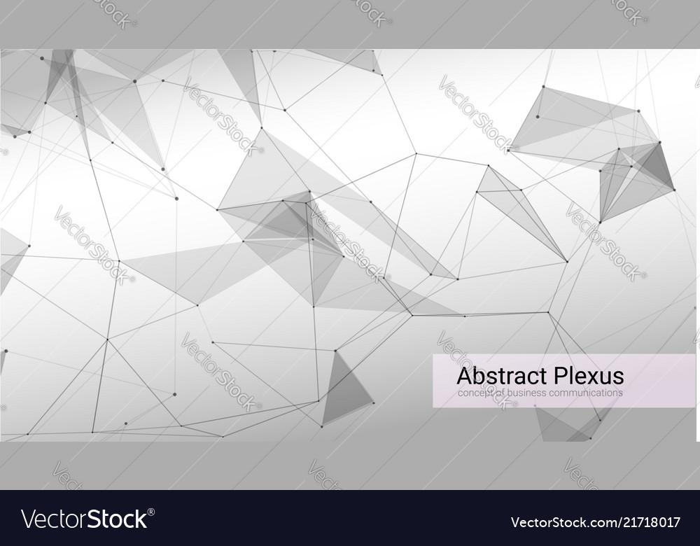 Futuristic plexus shapes abstract 3d