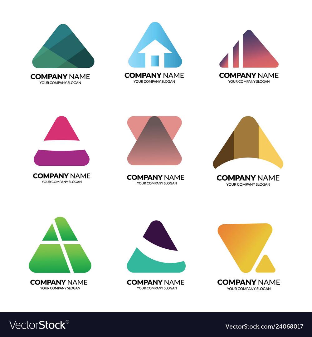 Logo triangle template