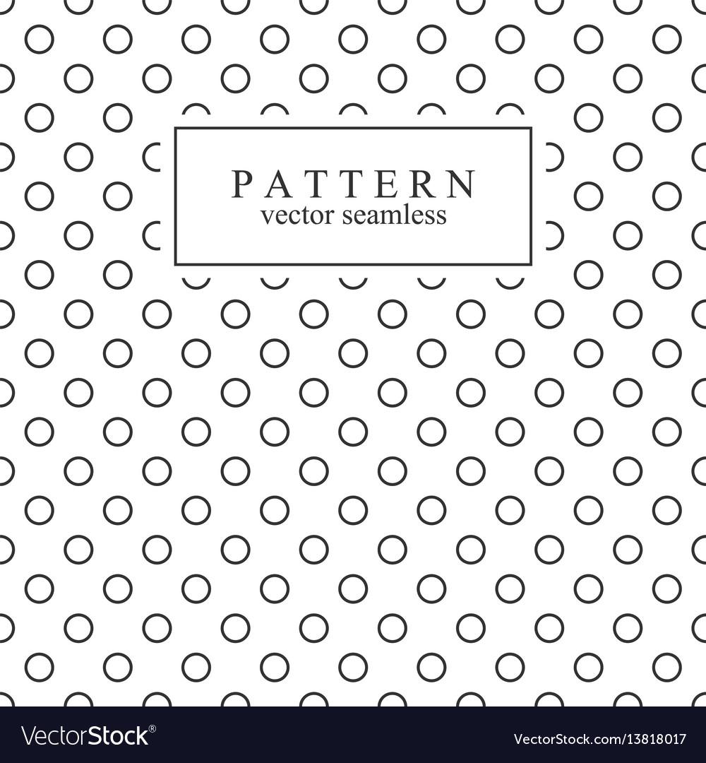 Minimalist geometric seamless pattern with circles