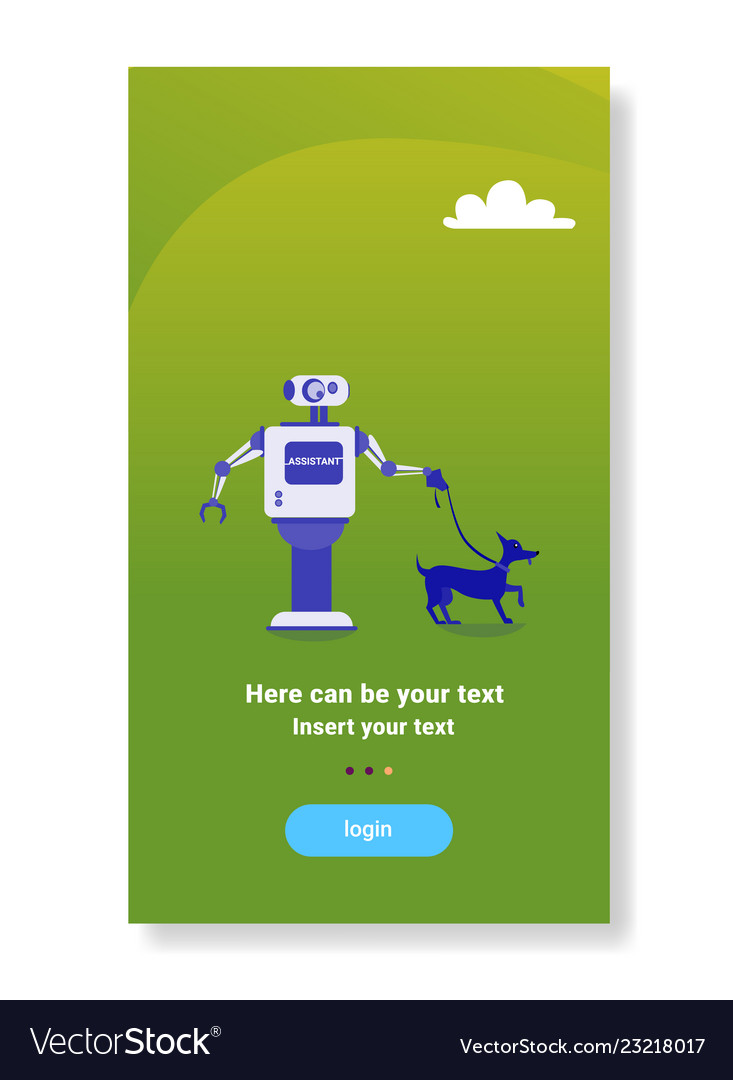 Modern robot walking dog house helper bot