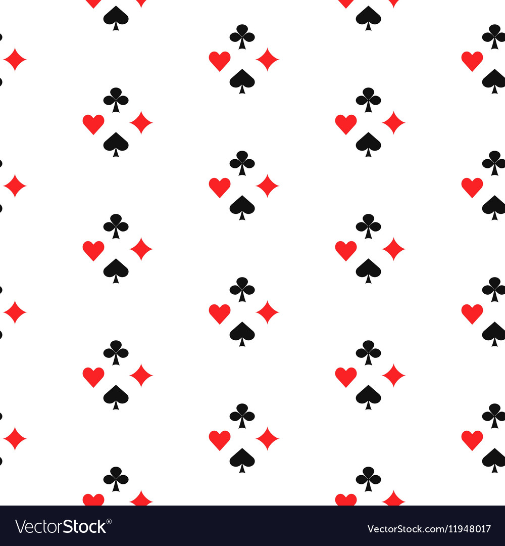 Playing card suits seamless pattern