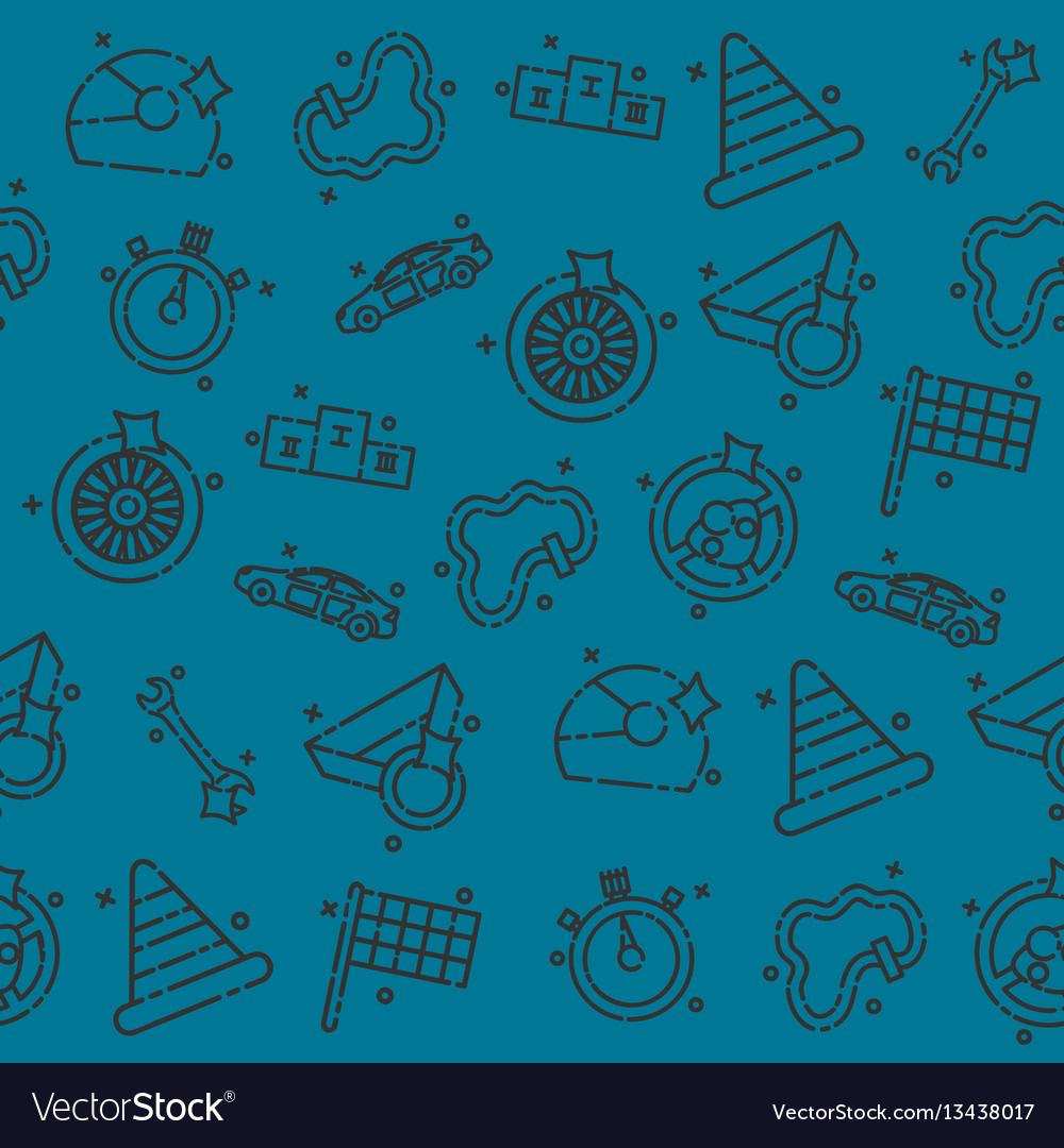 Racing set pattern vector image