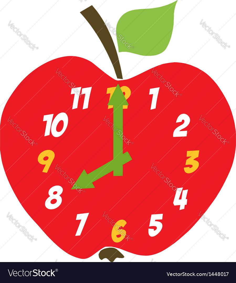 Red Apple Clock
