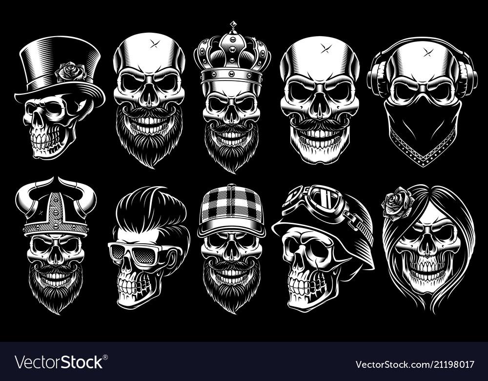 Set different skulls