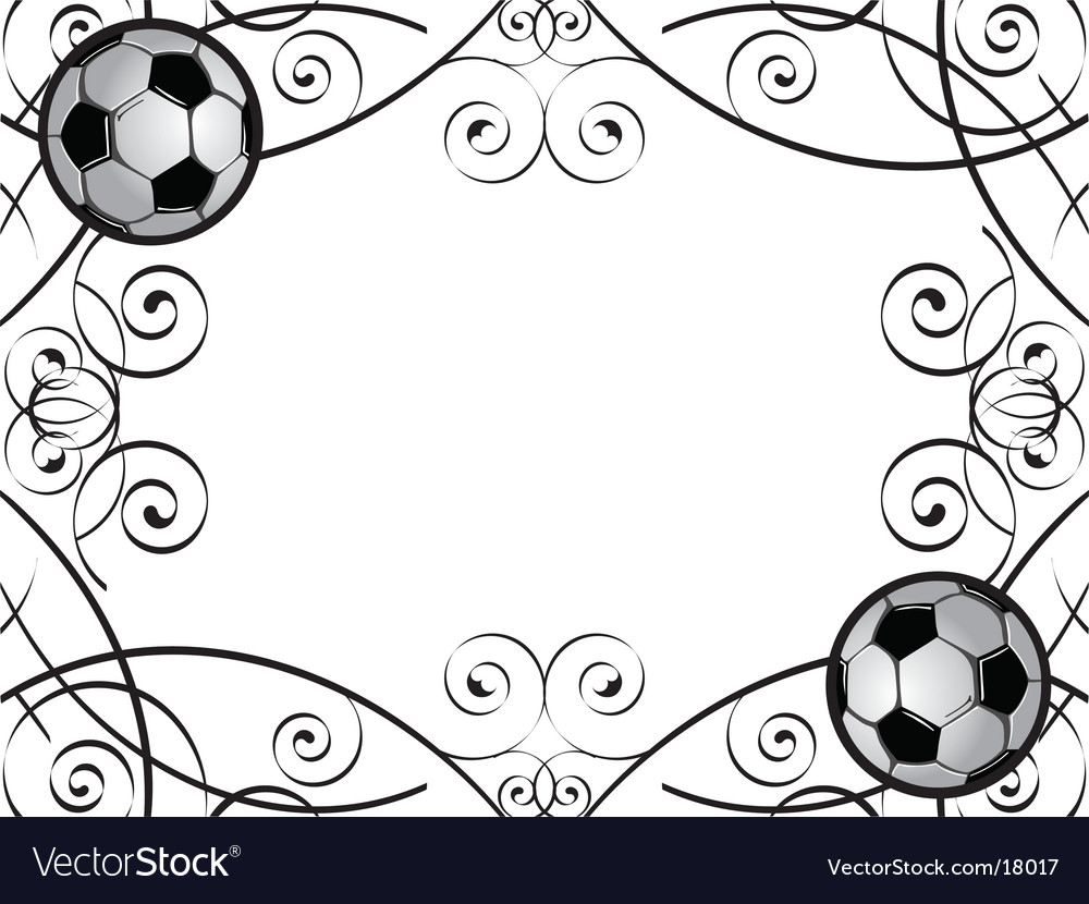 Soccer frame Royalty Free Vector Image - VectorStock