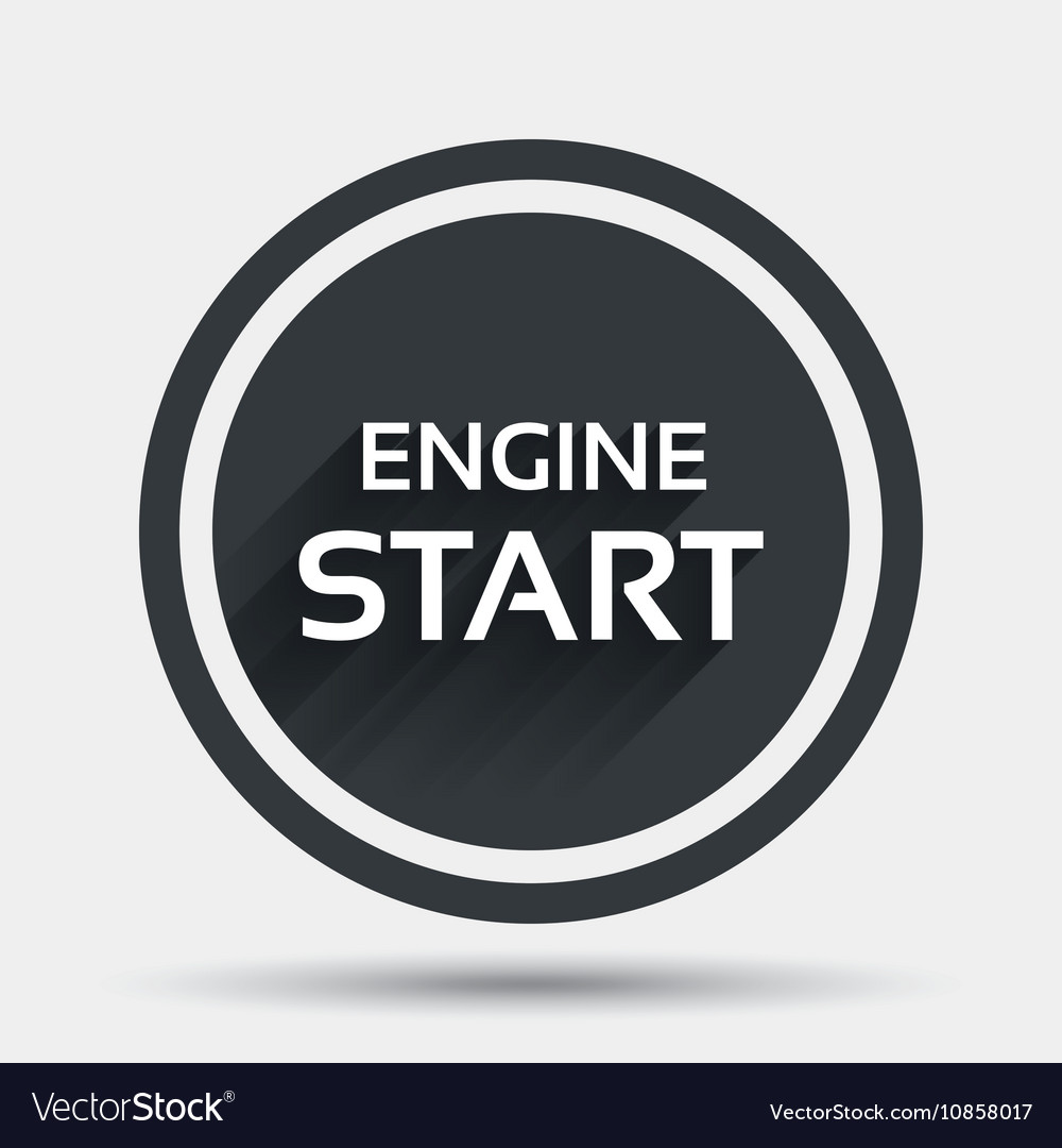 start engine sign icon power button royalty free vector Dodge Engine Start Button start engine sign icon power button vector image