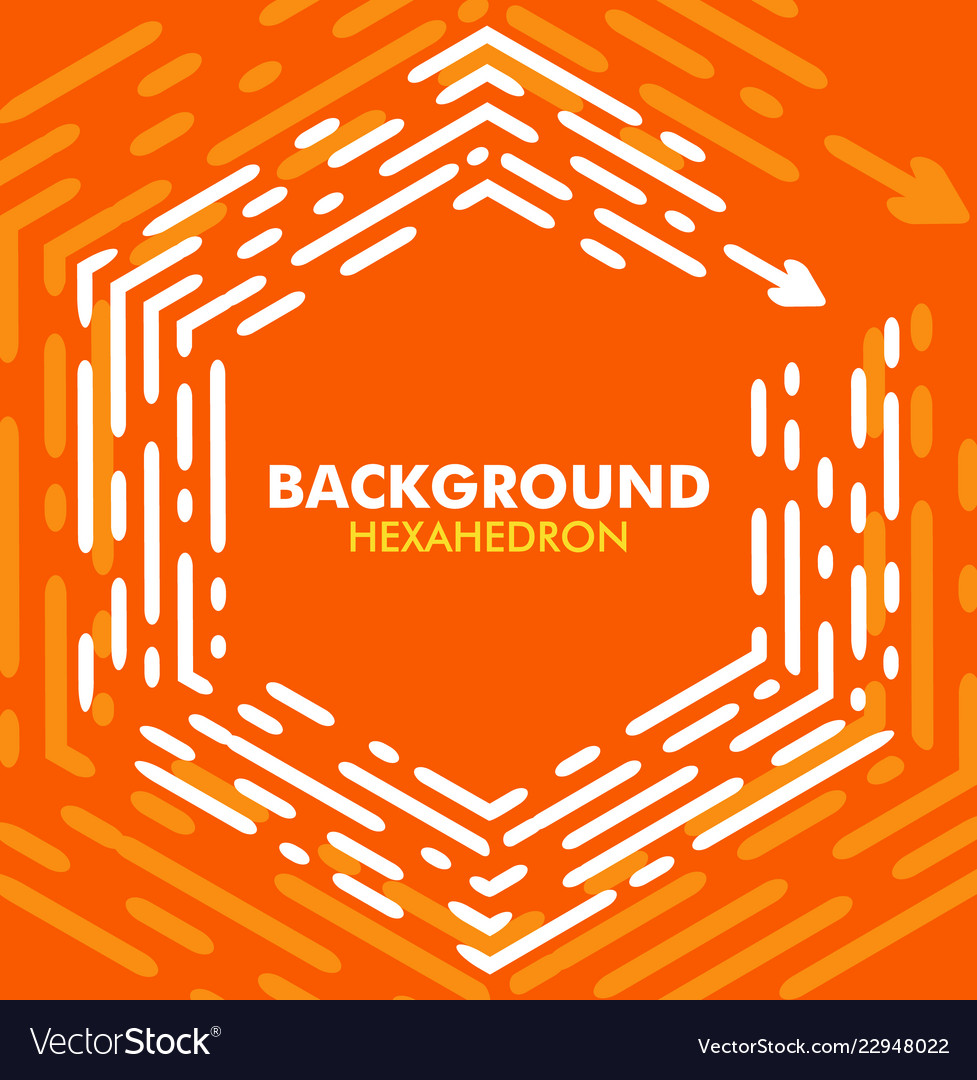 Bright abstract orange background with header