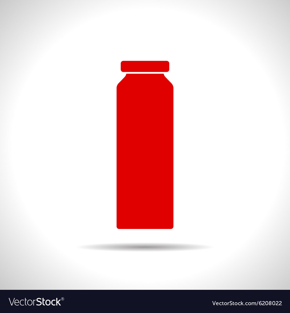 Color flat bottle template vector image