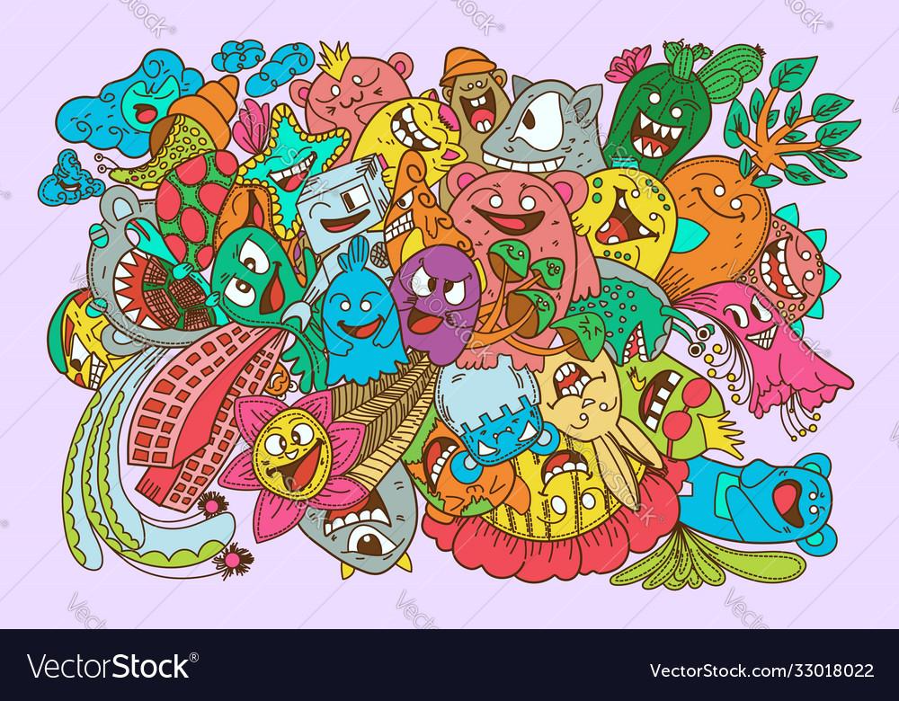 Doodles color monsters collection set